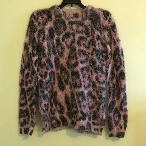 Topshop Leopard Print Sweater